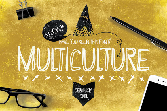 Multiculture Font Typeface