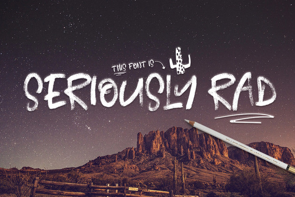 Seriously Rad Brush Font