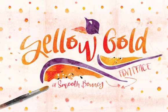 Yellow Gold Font Typeface
