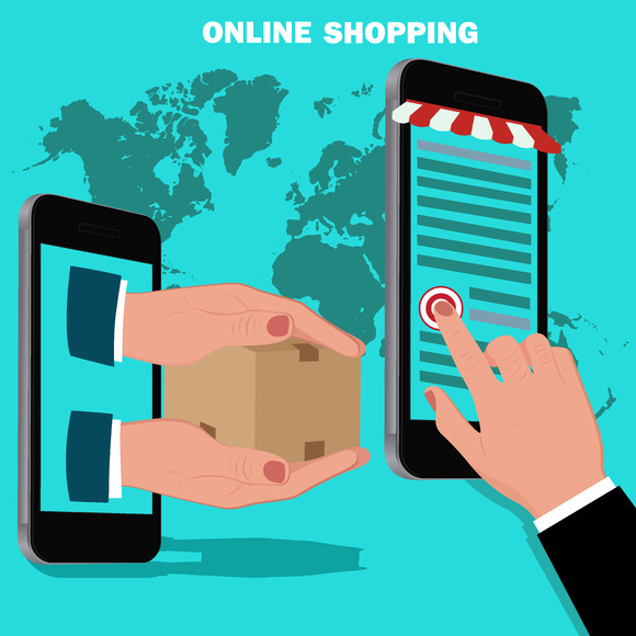 Stock graphic online mobile shopping concept for Shopping mobili online