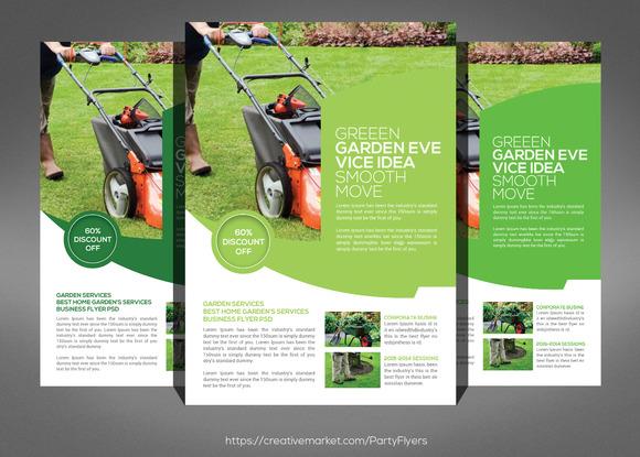 Garden Service Flyer Psd Template