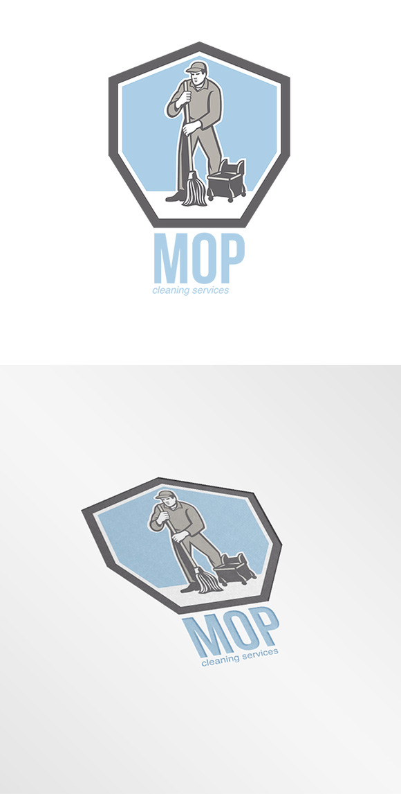 Mop Cleaning Services Logo