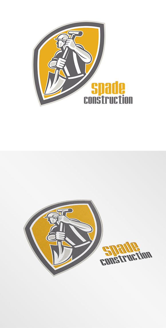 Spade Construction Logo