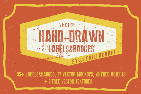 Hand-drawn Labels And Badges