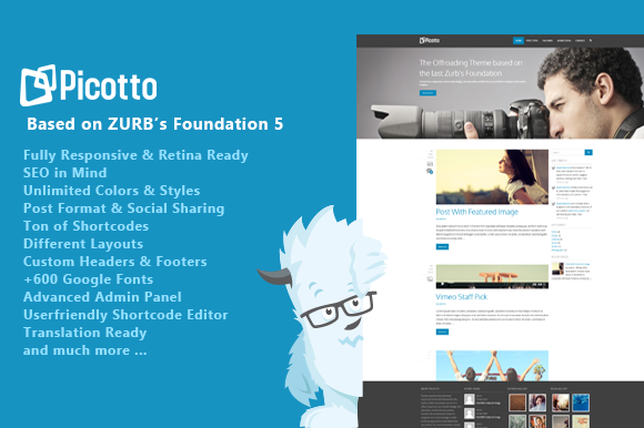 Picotto Responsive Wordpress Theme