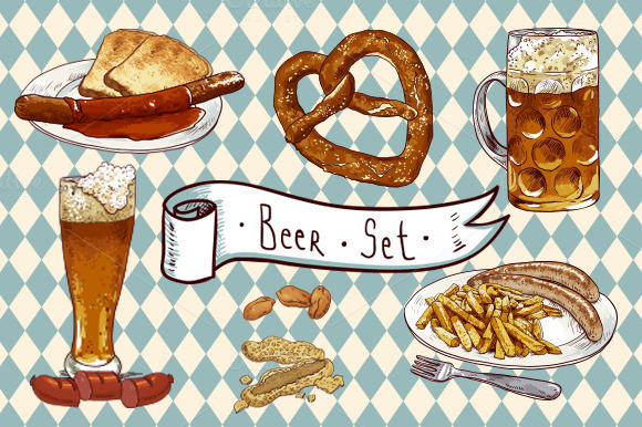 Beer And Food Set