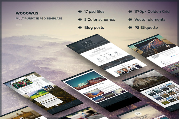 Awesome Multipurpose PSD Template