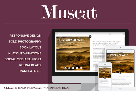 Muscat Clean Bold WordPress Blog