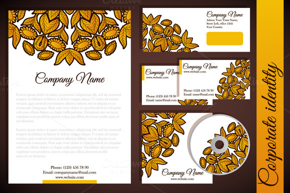 Corporate Identity With Floral Gold