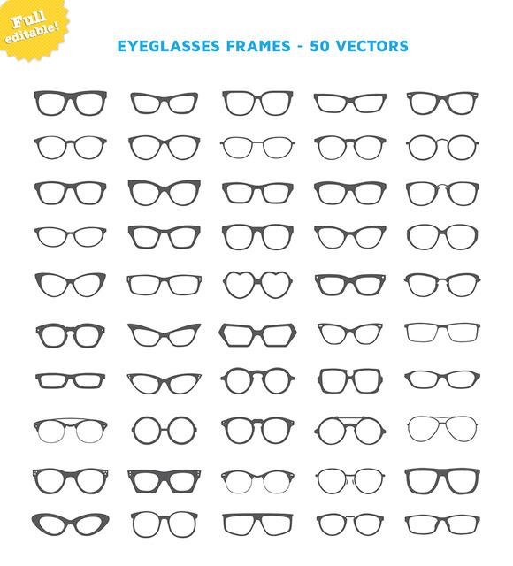 Eyeglasses Frames 50 Vectors