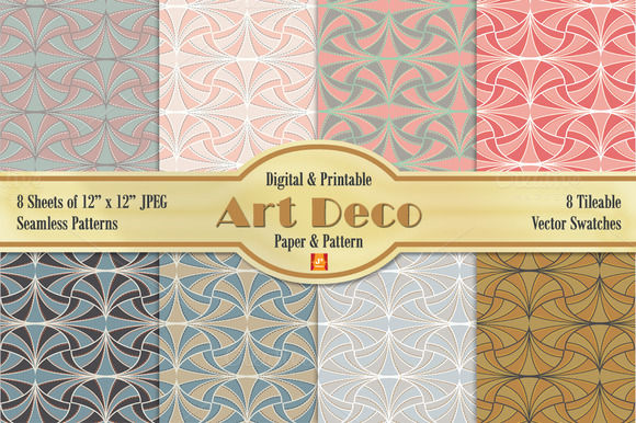 Art Deco Vector Digital Paper