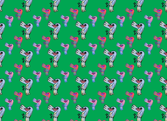 Seamless Pattern Of Doodle Cartoon