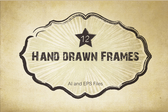 Vector Hand Drawn Frames