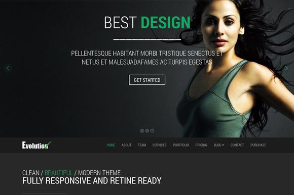 Evolution Multipurpose Web Template
