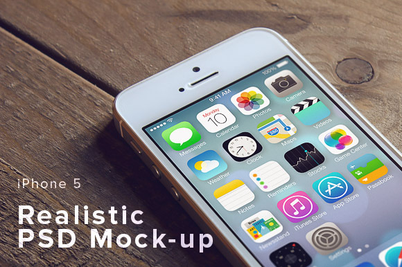 IPhone 5 PSD Mock-up