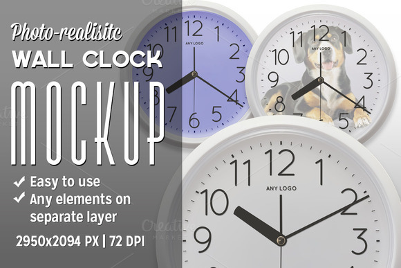 Wall Clock Mockup Kit
