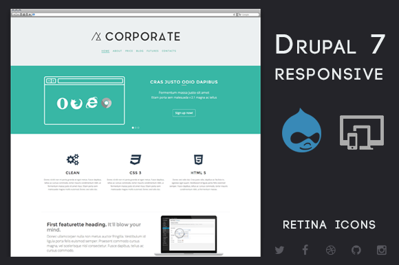 Corporate Drupal 7 Business Theme