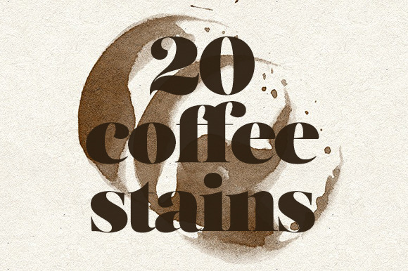 Coffee Stains 20 Brushes Vectors