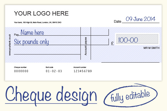 Cheque Check Design 4 Colours