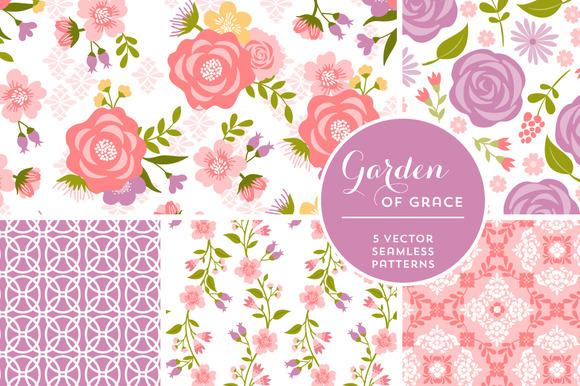 Vector Garden Of Grace Backgrounds