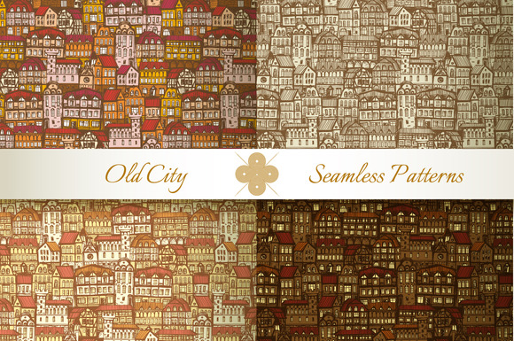 Medieval City Seamless Patterns #1