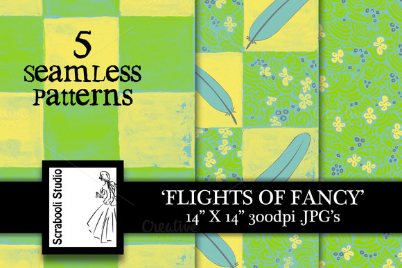 Seamless Pattern Flights Of Fancy