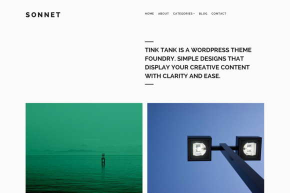 Sonnet Responsive WordPress Theme