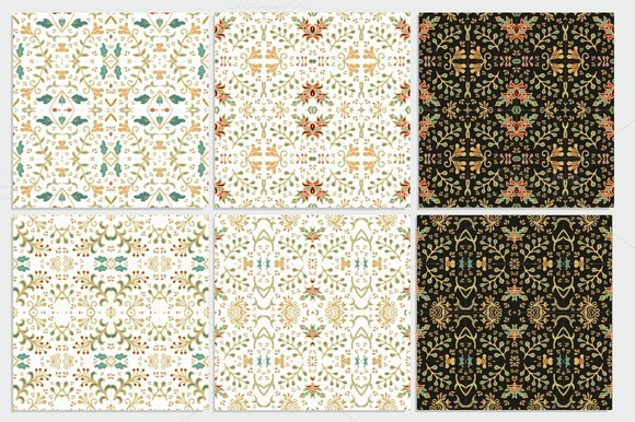 Set Of Seamless Azulejo Patterns