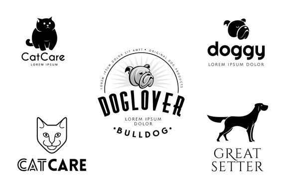 Pet Logo Templates Bundle