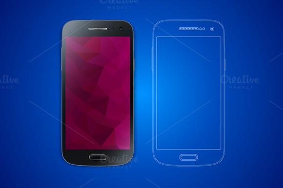 Smart Phone Photo Realistic Vector