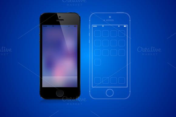 Iphone Photo Realistic Vector