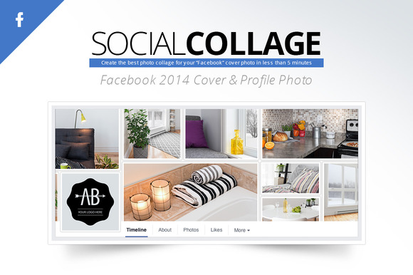 Social Collage Facebook 2014 Cover
