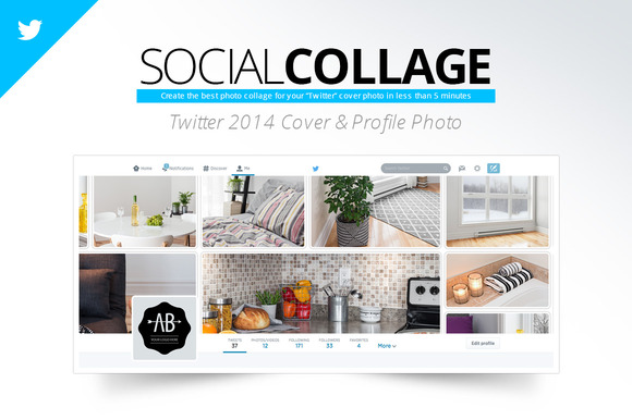 Social Collage Twitter 2014 Cover