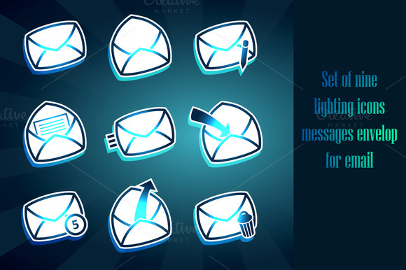 Set Of Envelops Icons