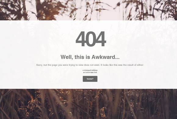 Simple Responsive HTML 404