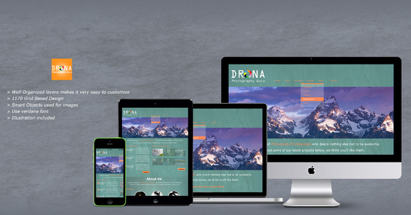 Drona Photography PSD Templates