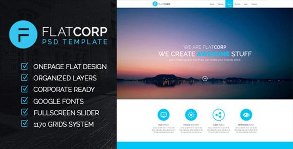 FlatCorp Multi-purpose PSD Templat
