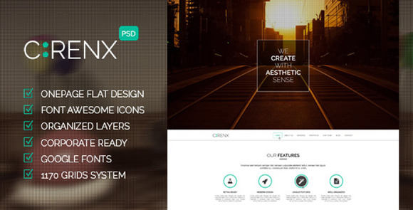 Cirenx One Page Multi-purpose PSD