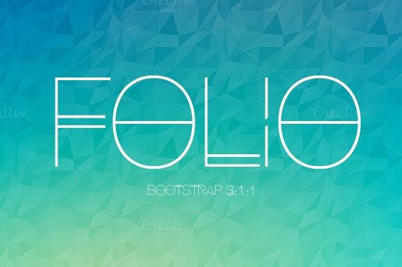 Folio Bootstrap Portfolio Theme