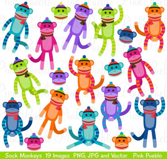 Sock Monkey Clipart And Vectors