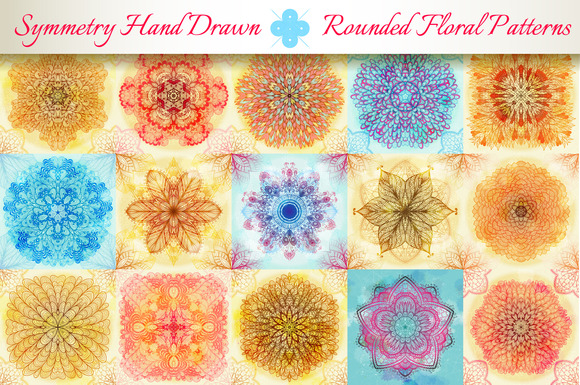 15 Floral Symmetry Patterns