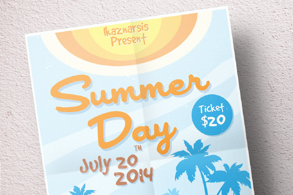 Summer Day Flyer Template