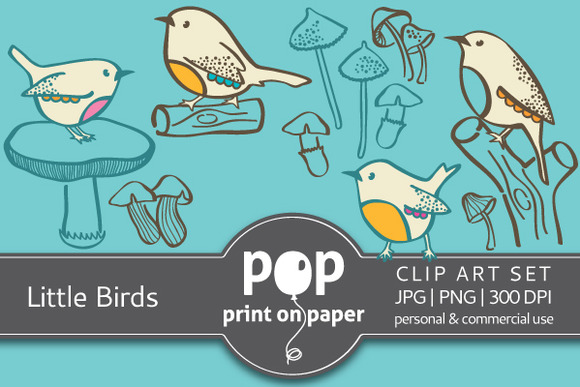 Little Birds PNG Clip Arts