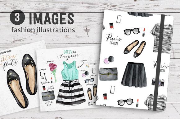 Set Of Fashion Illustrations