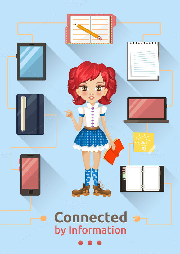 Smart Girl Illustration