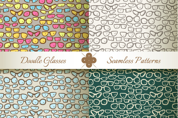 Seamless Patterns With Glasses