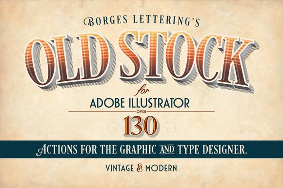 Old Stock-Adobe Illustrator Actions