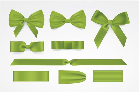Vector Green Bows