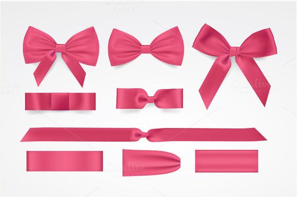 Vector Pink Bows