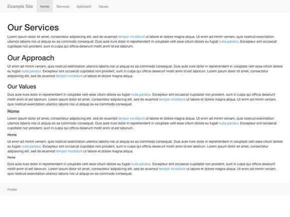 Basic Bootstrap 3 Website No Blog